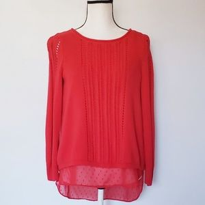 LUCKY BRAND scoop neck open back sweater